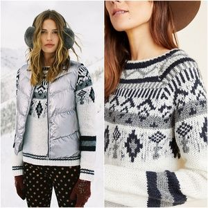 Anthropologie Stockholm Fair Isle Pullover Sweater
